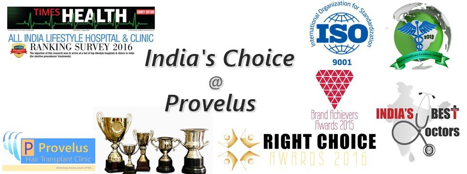 Best Hair Transplant awards for Provelus in Delhi,India